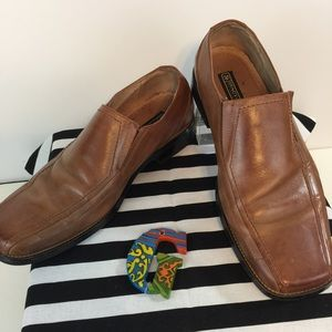 Stacy Adams Tan Leather Loafers Size 10